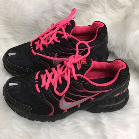 964c64d5c19 Nike Air Max Torch 4 Black Neon Pink Sneakers